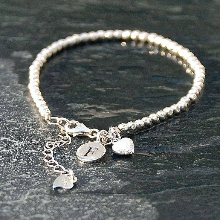 Personalised Sterling Silver Bracelet from notonthehighstreet.com