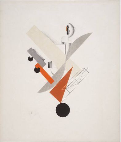 El Lissitzky, 5. Globetrotter (in time), 1923.  Another example of the Suprematist movement.