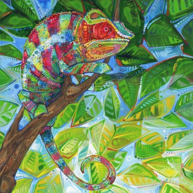 картинки как рисовать хамелеона мастерская