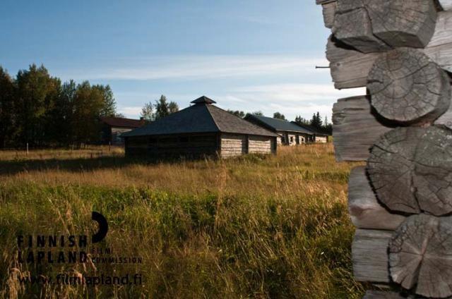 The village of Kaukonen, in the municipality of Kittilä in Finnish Lapland. Photo by Jani Kärppä. #filmlapland #finlandlapland #arcticshooting