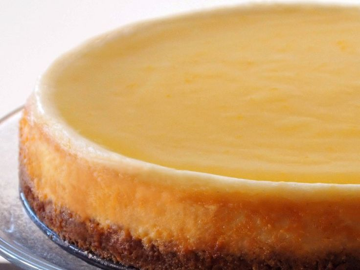 Lemon Cheesecake with Gingersnap Crust & Lemon Curd Topping