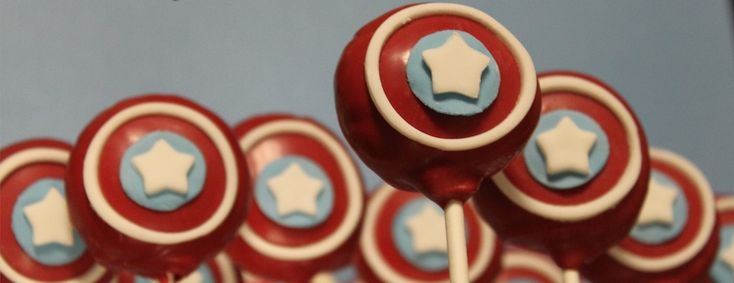 Midtown Sweets | Captain America Cake Pops