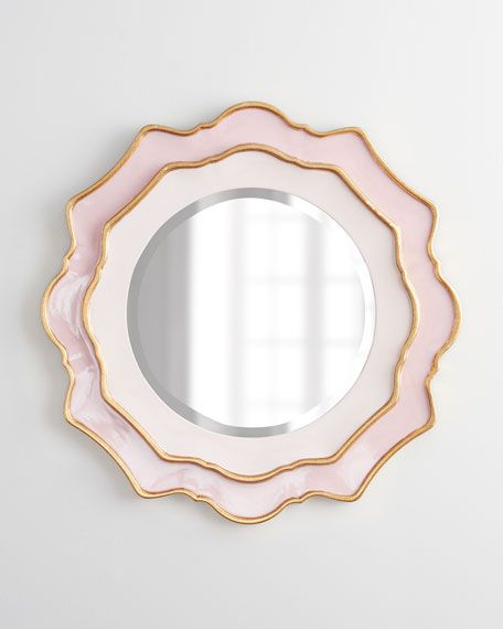Pink mirror for baby girl nursery - have and love