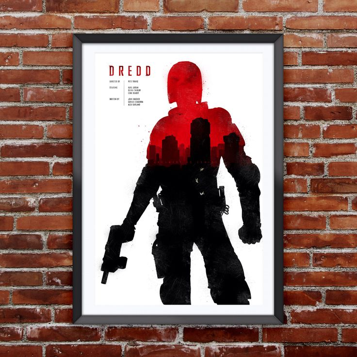 "Dredd Movie Poster 12X18"" by Pixology on Etsy https://www.etsy.com/listing/196662590/dredd-movie-poster-12x18"