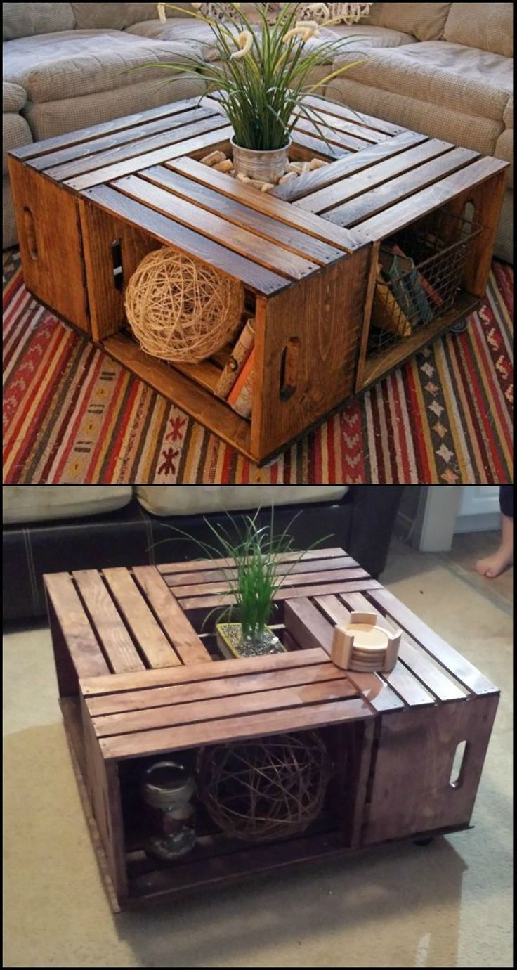 Do you want a rustic coffee table in your living room? Why not DIY this beautiful ….