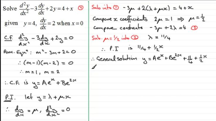 2nd Order Linear Differential Equations : Particular Solutions ...