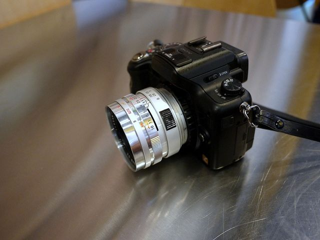 Hacking the Yashica Electro 35 GSN - Adapted Lens for Micro 4/3rd's Panasonic GH2