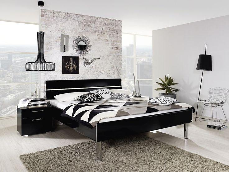 #Rauch #Select #Mavi #Plus #Doppelbett #Schlafzimmer #Schlafen #modern #schwarzweiß - Möbel Mit www.moebelmit.de
