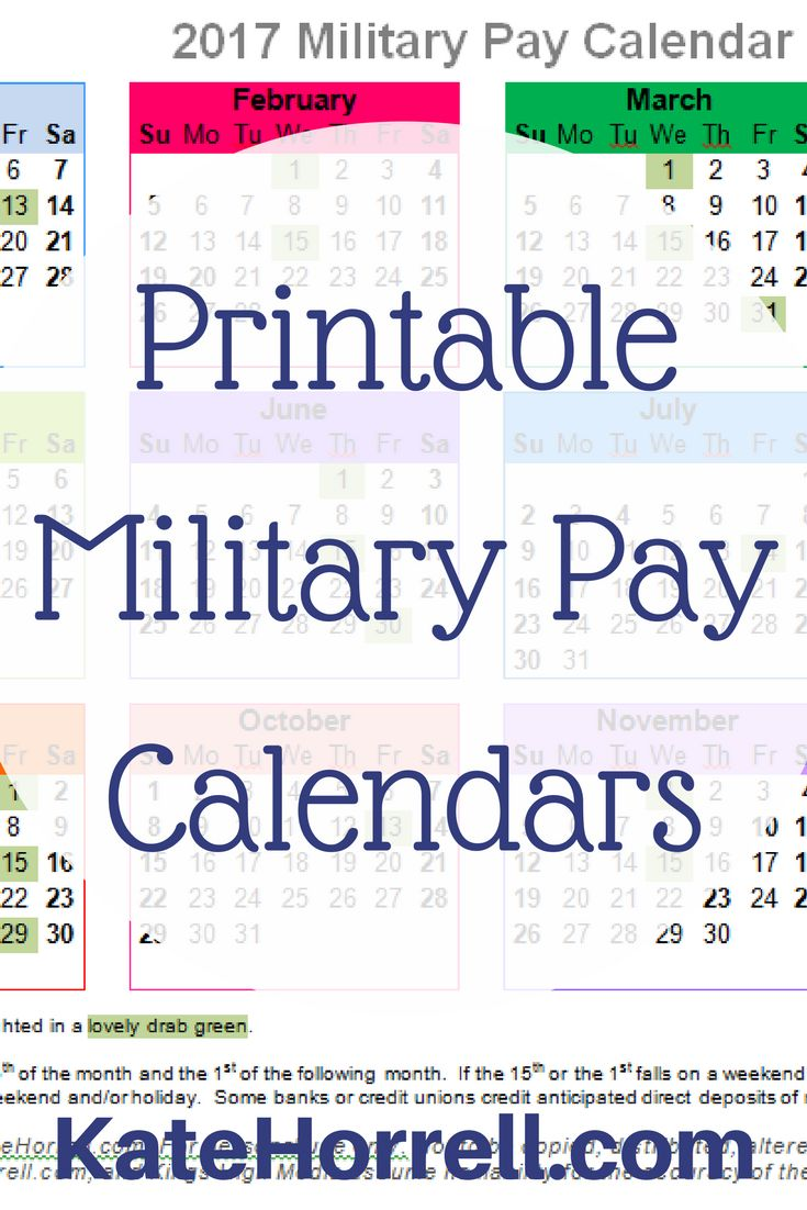 My family dollar life pay stub - Printable 2017 Military Pay Calendars So You Will Always Know When Payday Is Coming Next