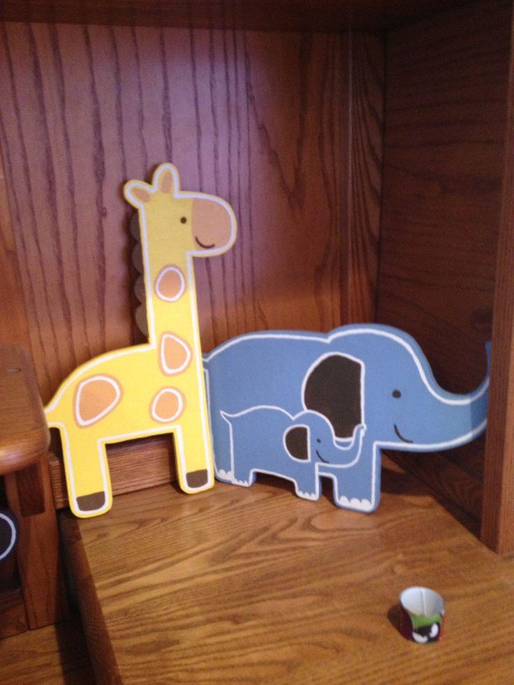 painted wood animal cutouts 2
