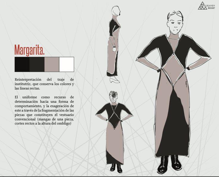 Boceto vestuario personaje: Margarita