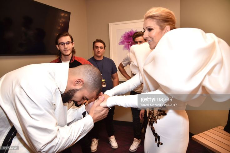 Recording artists Drake (L) and Celine Dion attend the 2017 Billboard Music Awards at T-Mobile Arena on May 21, 2017 in Las Vegas, Nevada.