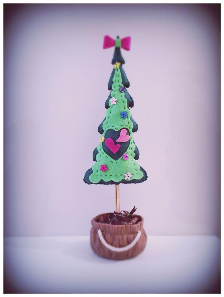 Handmade Felt Tree In a Pot