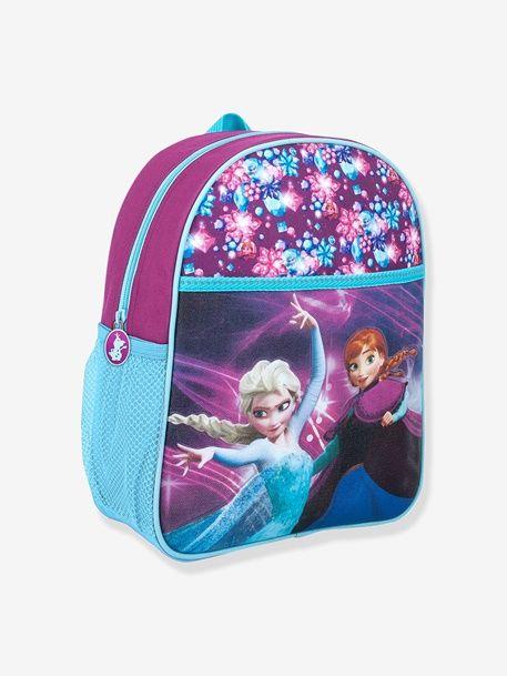 Mochila escolar niña Frozen® con efecto 3-D y brillantes - Azul Claro Liso Con Adorno - 1