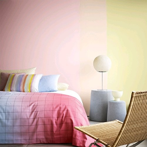 Ombre Wall and Bed Cover