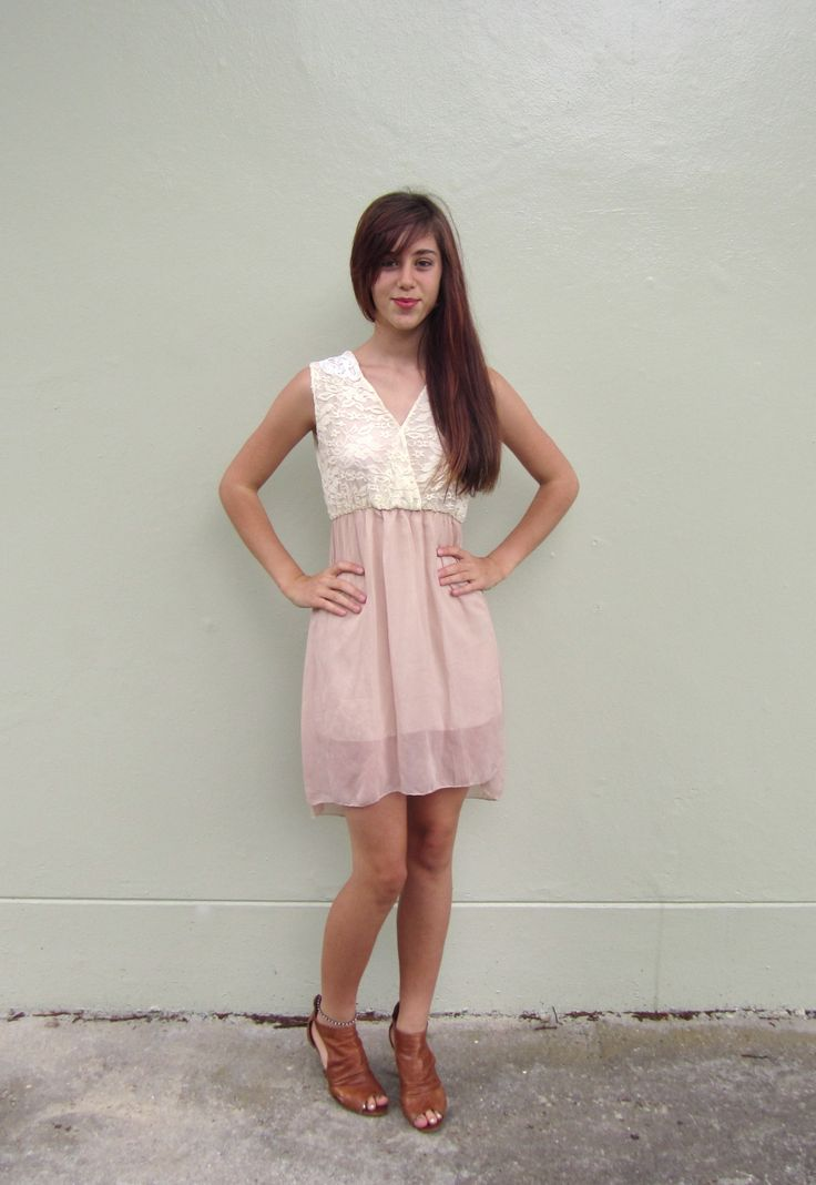 Lace and Sheer Summer Dress Size 06 $19.99
