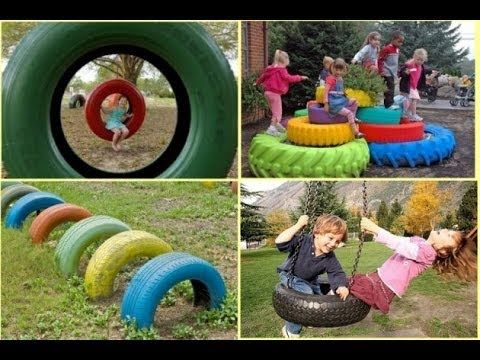 Charming DIY Ideas How to Reuse Old Tires - YouTube