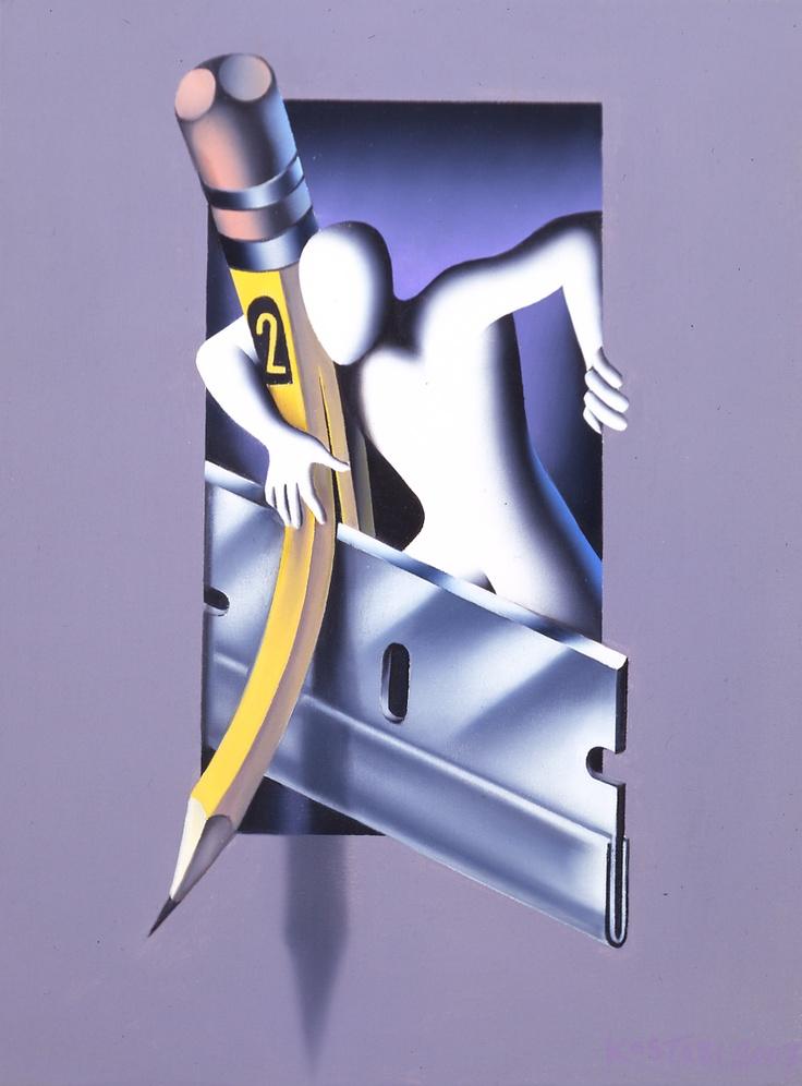 Mark Kostabi - Drawn to the Edge (2007)