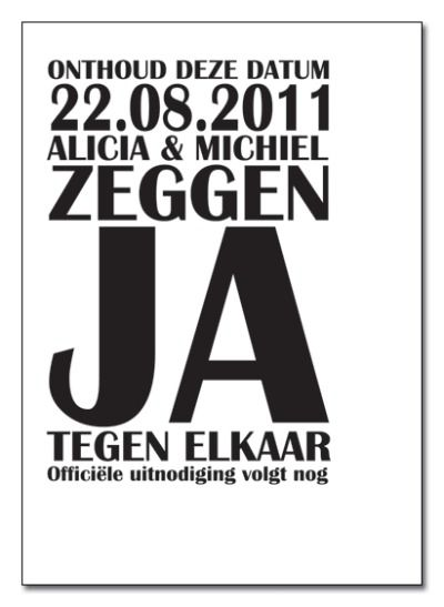Save the Date - text only