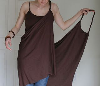 """DIY 20 Minute Copy-Cat VS Beach Cover Up! the 20 Minute Beach Cover Up! """"You'll need... 1.75 yards of jersey or stretchy cotton material, (about 1.5 your waist measurement) Thread + needle or sewing machine Scissors"""" Also has no-sew, high-back, and halter versions!!"""