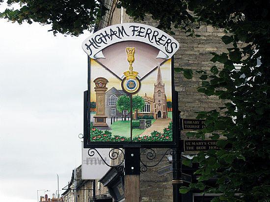 English village signs - Higham Ferrers, Northamptonshire