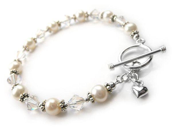Freshwater Pearl and Swarovski Crystal Bracelet - Mia