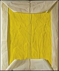 Claudio Bravo's painting of White and Yellow Package.