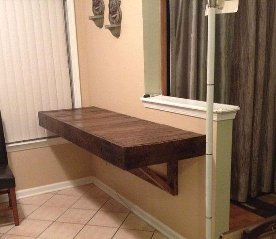 Reclaimed wall mount desk escritorio de madera - Escritorios de pared ...