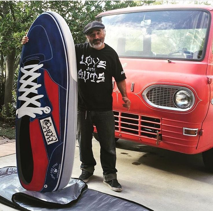 Half cab shoes surfboard