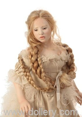 Doll by Tom Francirek Andre Oliveira They use the finest fabrics, both antique and modern, French lace, silk ribbons, silk and cotton are best. The eyes of each porcelain doll are hand-drawn.