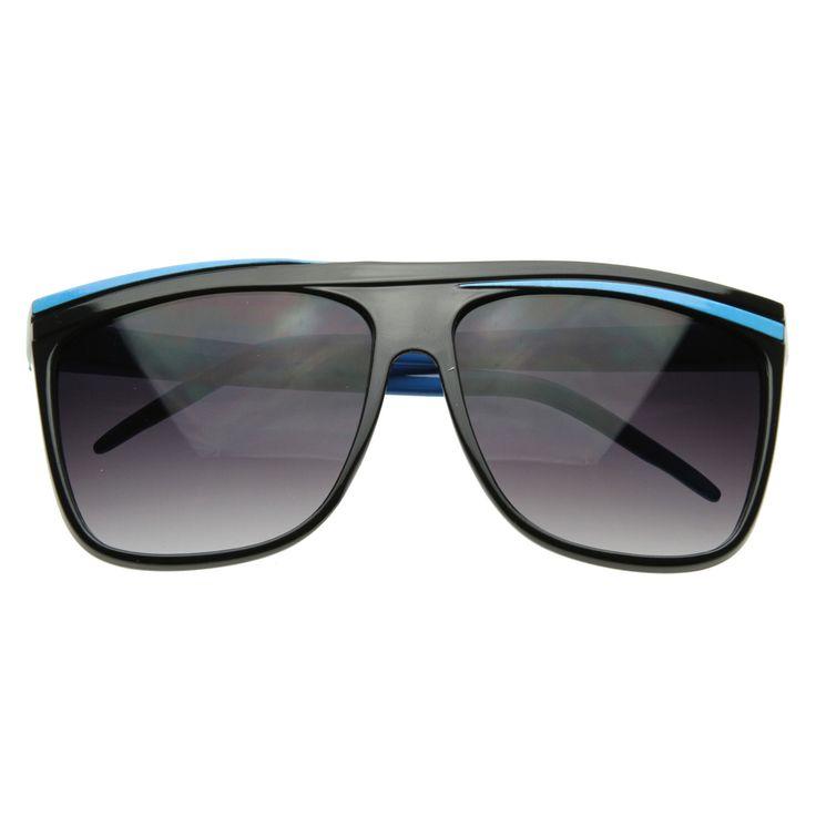 Neon Retro 80s Neon Flat Top Horn Rimmed Sunglasses 2854