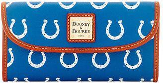 Dooney & Bourke NFL Colts Continental Clutch Wallet
