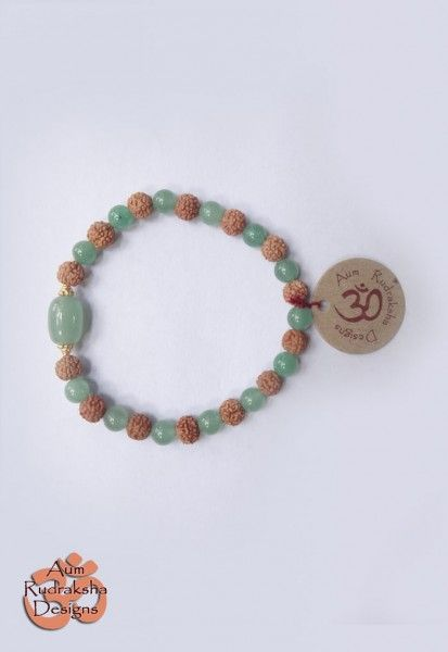 Aventurine and Gold Plated Sterling silver beads #aum #rudraksha #beads #bracelet #jewellery #silver #aventurine #bali