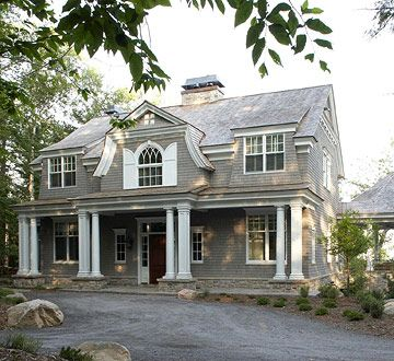 Exterior: Home Tours, Dutch Colonial Home, Color, Dreams House, Capes Cod Style, Modern House, Design Home, Shingle Style Home, New England Home