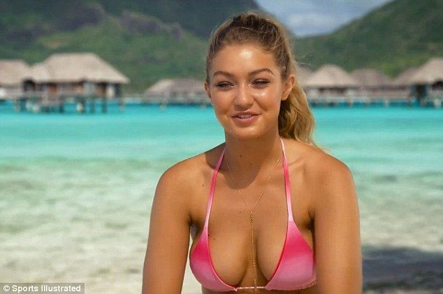 Gigi Hadid sizzles in her Sports Illustrated Swimsuit photoshoot in Tahiti   Daily Mail Online