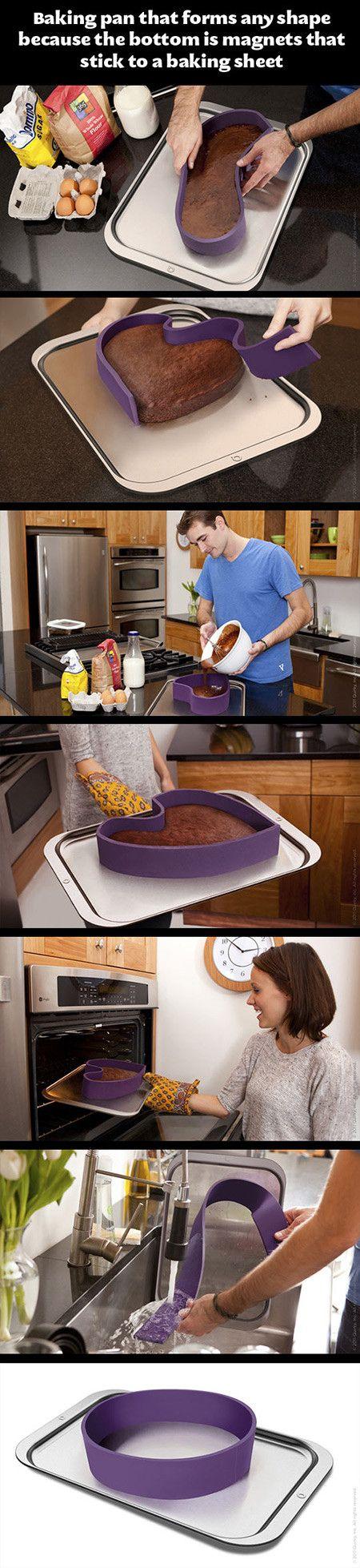 Genial para hacer pasteles de formas diferentes! Funciona con imanes.