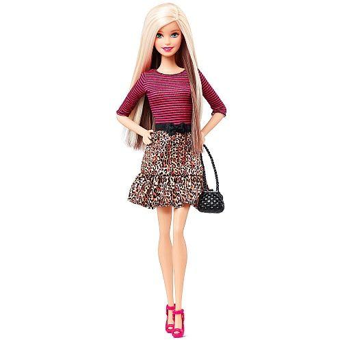 Barbie Fashionista Saia Leopardo Top Riscas