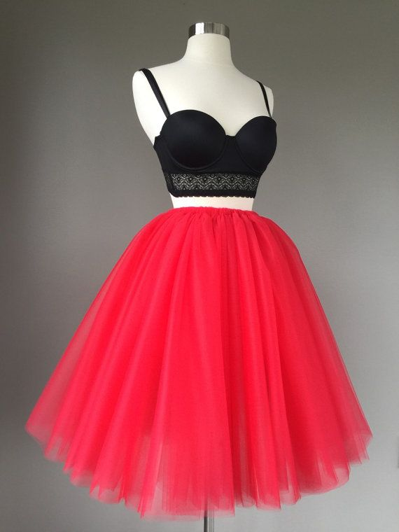 Tulle skirt adult tutu adult red tutu by Morningstardesignsmi