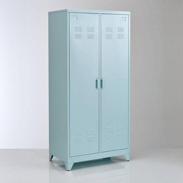 Armoire vestiaire, métal, 2 portes, Hiba la redoute intérieurs / Largeur : 85 cm Hauteur : 180 cm Profondeur : 50 cm