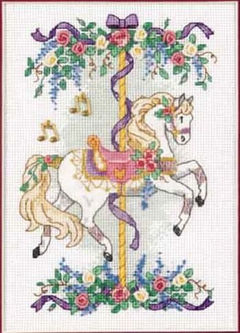 Cross-stitch Carousel Horse, part 1 of 3