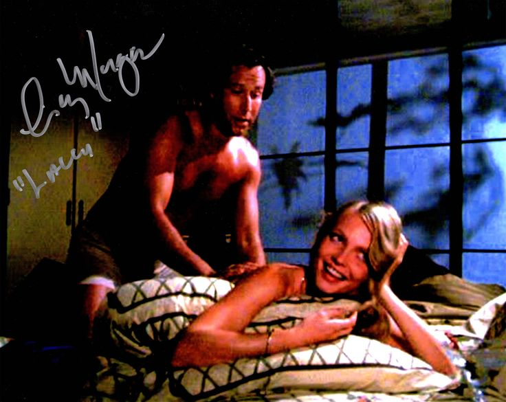 Cindy Morgan Signed Caddyshack with Chevy Chase