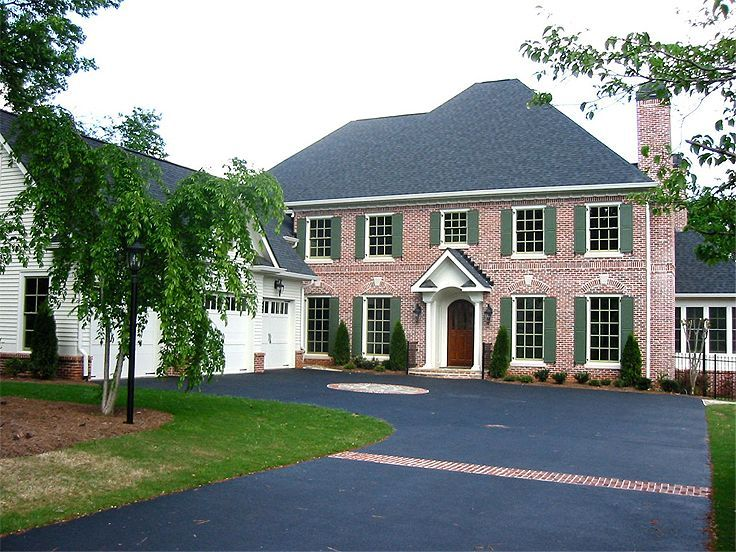 Red Brick Home Exterior Design Part - 32: Inspiring Exterior Paint Colors For Red Brick Homes Plans : Excellent  Exterior Paint Colors For Red Brick Homes White Windows Frames Wooden Door  Wall ...