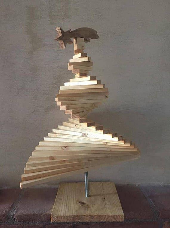 Albero di Natale in legno e luci led  Christmas tree
