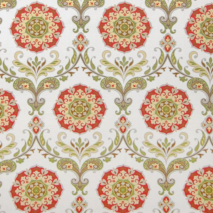 Delightful persimmon floral home fabric by Greenhouse. Item A6174-PERSIMMON. Low prices and free shipping on Greenhouse fabrics. Strictly first quality. Over 100,000 fabric patterns. Swatches available. Width 54 inches.