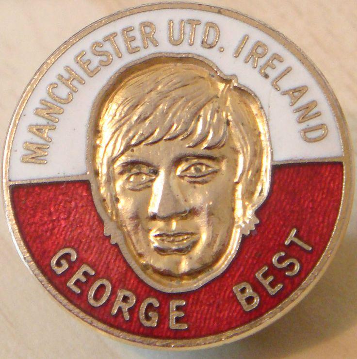 MANCHESTER UNITED & GEORGE BEST Rare vintage badge Maker COFFER LONDON 25mm Dia in Sports Memorabilia, Football Memorabilia, Badges/ Pins | eBay