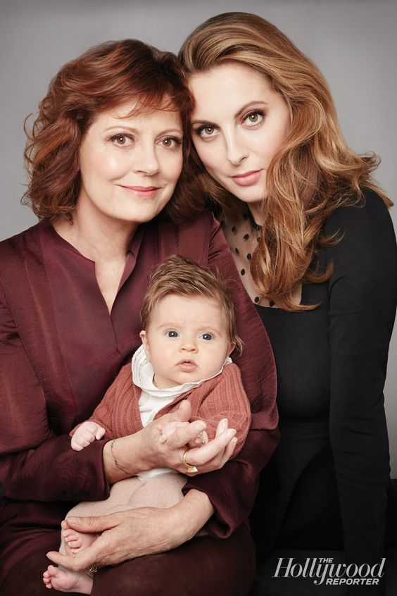 Susan Sarandon with her daughter Eva Amurri Martino and granddaughter Marlowe 2014.: