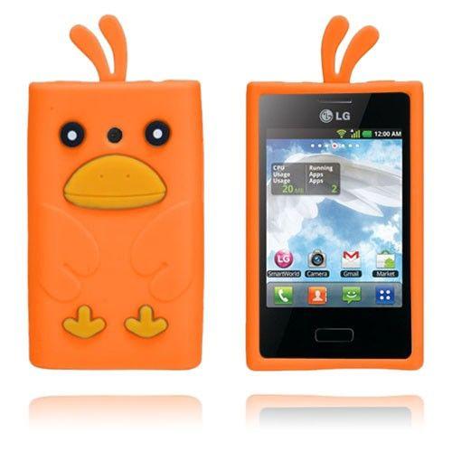 Duck (Orange) LG Optimus L3 Cover