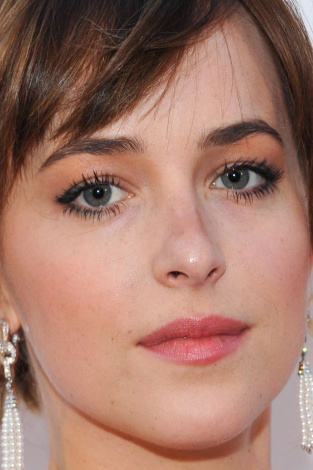 Close-up of Dakota Johnson at the 2015 Toronto premiere of 'Black Mass'. http://beautyeditor.ca/2015/09/22/tiff-2015