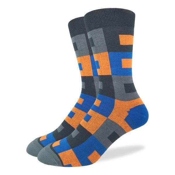 Men's Orange Rectangles Socks