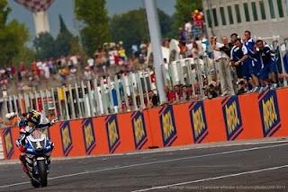 Jorge Lorenzo winning the San Marino MotoGP